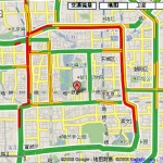 Google中国地图新增实时交通流量信息