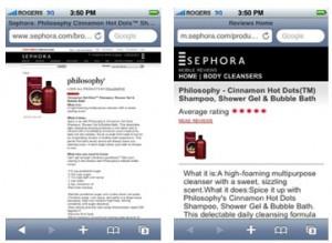 移动电子商务可用性:产品展示页面和购物车