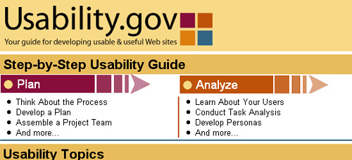 Usability.gov - screen shot.