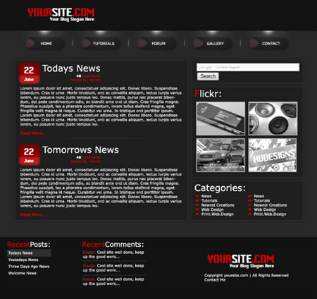 博客模板页面设计