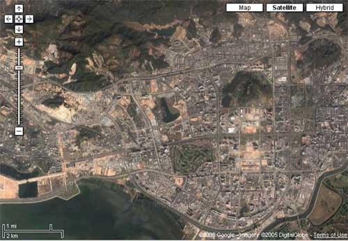 谷歌地图下的深圳